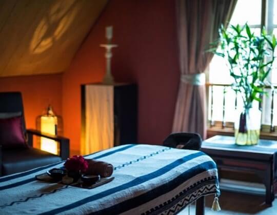 Massage room in the best spa hanoi